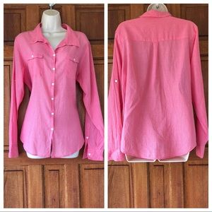 Horny toad blouse Sz L